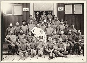 Horserød camp - Russian prisoners of war at Horserød camp