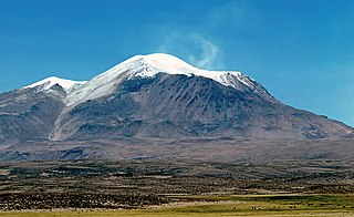 Guallatiri mountain in Parinacota Province Chile