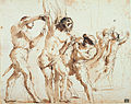 Guercino (Giovanni Francesco Barbieri) - Study for the Martyrdom of St. Bartholomew - Google Art Project.jpg