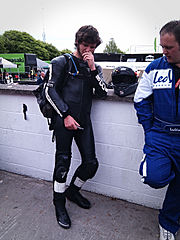 Guy Martin au Tourist Trophy en 2010 - Source : Wikimedia