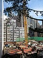 HK 石塘咀 Shek Tong Tsui 翰林峰 Novum West construction site view from Clarence Terrace Nov 2017 IX1 02.jpg