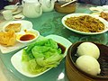HK Sheung Wan 金鑽海鮮皇宮酒家 Daimond Restaurant 點心 Dim Sum 生菜 vegetable dishes Romaine lettuce 流沙蒸包 Mar-2012.jpg