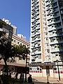 HK TKL 調景嶺 Tiu Keng Leng 彩明街 Choi Ming Street 彩明苑 Choi Ming Court facade blue sky November 2019 SS2 03.jpg
