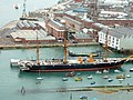 HMS warrior and part of dockyard from Spinnaker tower - geograph.org.uk - 414912.jpg