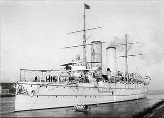 Protected cruiser - Dutch protected cruiser Noord-Brabant as accommodation ship