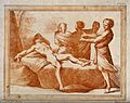 Ham sees his father, Noah, naked and drunk; Shem and Japheth Wellcome V0034223.jpg