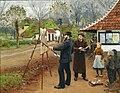 Hans Andersen Brendekilde - L.A. Ring maler ved Aasum Smedje.jpg