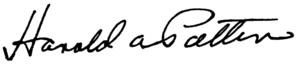 Harold Patten - Image: Harold Patten Signature