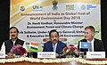 Harsh Vardhan and the Under Secretary General of United Nations and Executive Director of UN Environment, Mr. Erik Solheim and the Minister of State for Culture (IC) and Environment, Forest & Climate Change.jpg