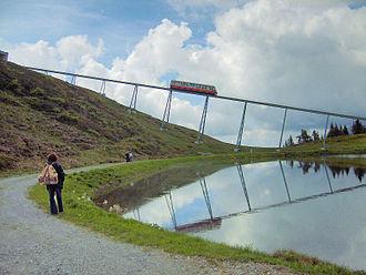 Rail transport in Austria - The Hartkaiserbahn funicular near Ellmau