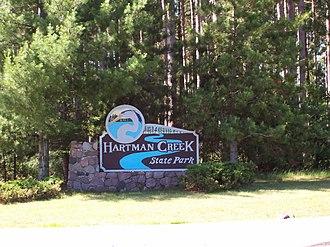 Hartman Creek State Park - Entrance sign