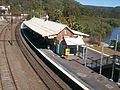 Hawkesbury River railway station view from footbridge.JPG