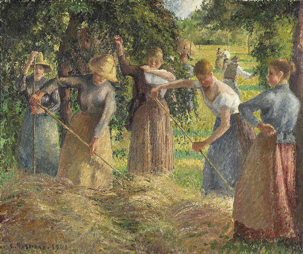 Hay Harvest at Éragny, 1901, Camille Pissarro