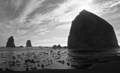Haystack rock monochrome.png
