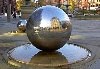 Specular reflection - Specular reflection from metal spheres