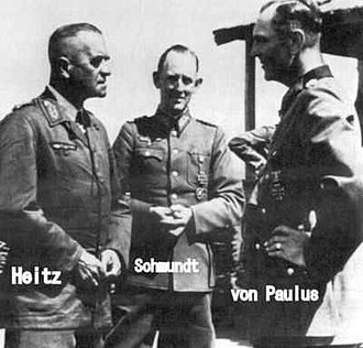 Walter Heitz - Heitz, Rudolf Schmundt and Friedrich Paulus in the Soviet Union, 1942