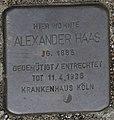 Hellenthal, Im Kirschseiffen 29, 31 und 32, Stolperstein für Alexander Haas.jpg