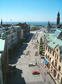Helsingborg, view from the Terrasstrapporna