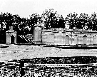 Women in Military Service for America Memorial - The Hemicycle under construction in 1931