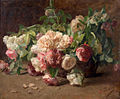 Henri Biva, La corbeille de roses, oil on canvas, 59 x 73 cm.jpg
