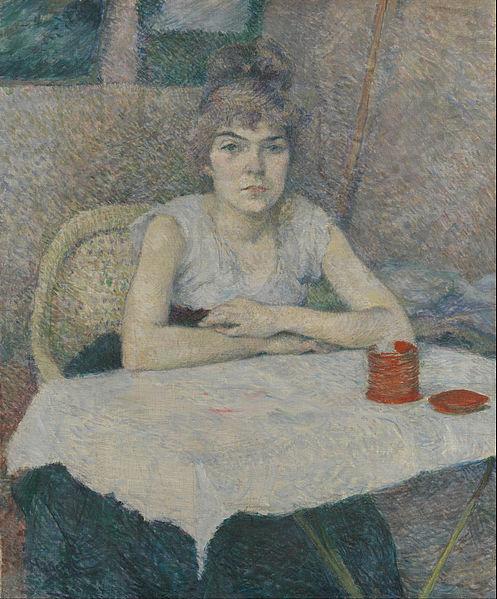 File:Henri de Toulouse-Lautrec - Young woman at a table, 'Poudre de riz' - Google Art Project.jpg