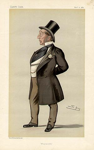 "Henry Edwards (1820–1897) - ""Weymouth"". Caricature by Spy published in Vanity Fair in 1882."