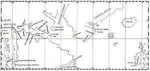 Waskaganish - A map of Hudson's fourth voyage