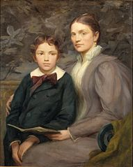 Mrs. William T. Evans and Her Son