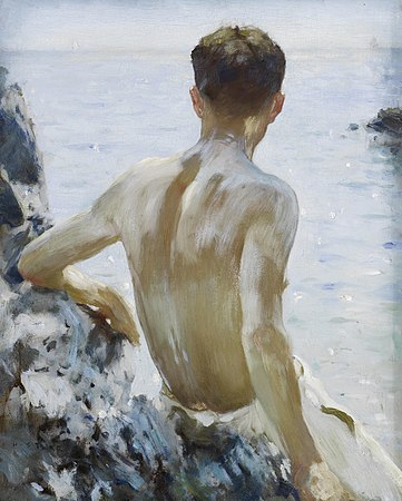 Henry Scott Tuke - Beach Study.jpg