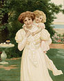 Herbert Blande Sparks Mother and child in the garden.jpg
