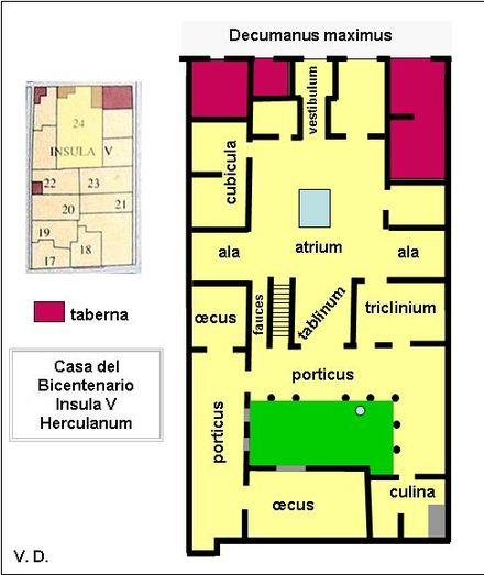 Maison du bicentenaire le plan d 39 une riche domus for Le plan d une maison