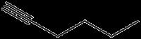 Strukturformel von 1-Hexin