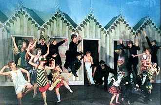 High Button Shoes - Scene from the Broadway play in 1948