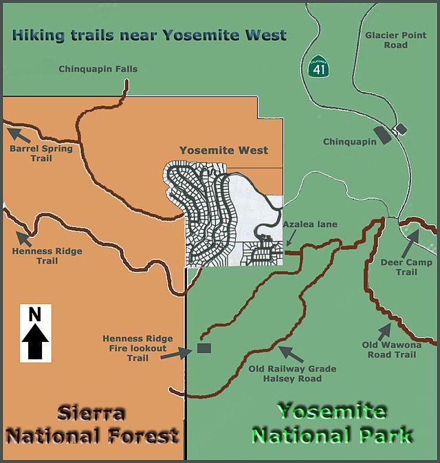 Yosemite West California Wikiwand - Map of california near yosemite