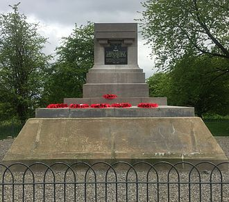 Queen Victoria's Rifles - Hill 60 (Ypres): Memorial to the Queen Victoria's Rifles