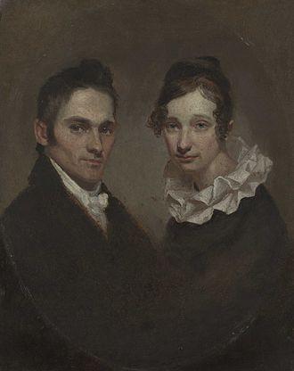 Hiram Bingham I - Portrait of Hiram and Sybil Moseley Bingham, by Samuel Morse, 1819
