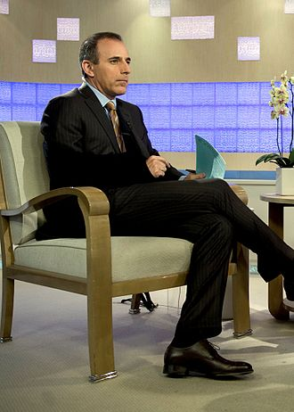 Matt Lauer - Lauer on the set of the Today Show, May 2009