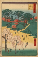 Hiroshige Hundred views Edo 14 Higurashi no sato jiin no rinsen (日暮里寺院の林泉).tif