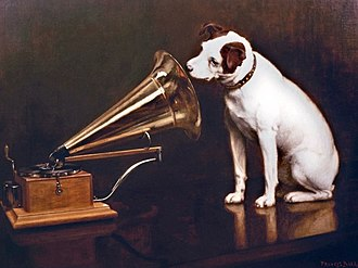 "Dum Dum - The original painting ""His Master's Voice"" was made in 1899."