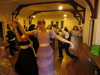 Baroque dance - Young ladies enjoying a Time Travelers' Ball – dances from the 15th to early 20th century including Baroque