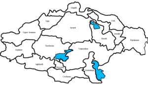 Historical regions of Armenia - 15 provinces of Historical Armenia