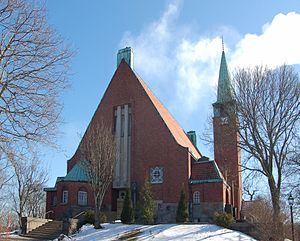 1909 in architecture - Hjorthagen Church, Stockholm