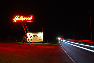 Poestenkill, New York - Hollywood Drive In on Route 66