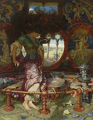 The Lady of Shalott - Hunt's Lady of Shalott (1905)