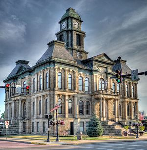 Holmes County, Ohio - Image: Holmes County Court House July 2016