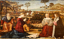 Vittore Carpaccio: Holy Family and donors