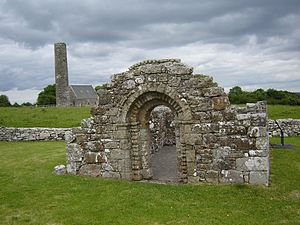 Mountshannon - A Romanesque archway on Inis Cealtra.