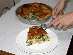 Homemade pie (burek) with spinach and cheese 03.jpg