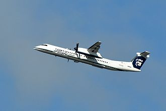Horizon Air - A Horizon Air Bombardier Q400 taking off from Seattle–Tacoma International Airport.