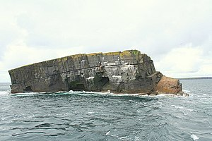 Scottish island names - Horse of Copinsay from the north west
